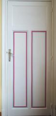 porte décorée avec du washi tape